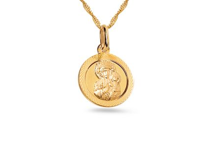 Gold-Medaillon Madonna mit Kind