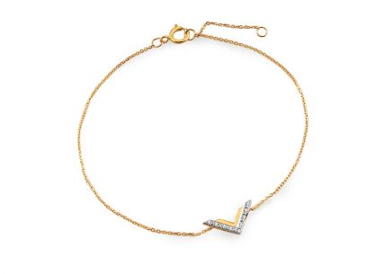 Goldenes Brillantarmband von 0,020 ct