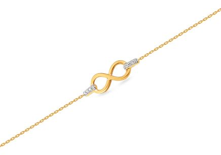 Goldarmband mit Diamanten 0,010 ct Infinity