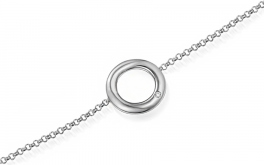 Goldarmband mit einem Diamanten 0,010 ct Dot white