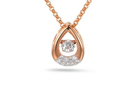 Brillant Anhänger aus Roségold 0,110 ct Dancing Diamonds