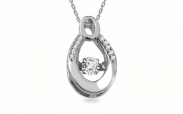 Diamant Anhänger 0,060 ct Dancing Diamonds