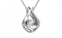 Diamant Anhänger 0,080 ct Dancing Diamonds