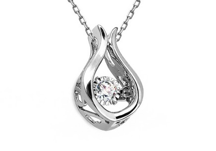 Diamant Anhänger 0,090 ct Dancing Diamonds