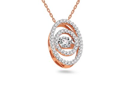 Diamant Anhänger aus Roségold 0,250 ct Dancing Diamonds