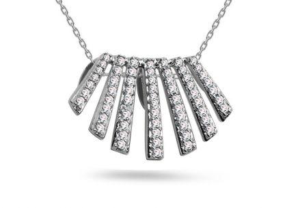 Goldohrringe mit Diamanten 0,020 ct Dreiecke, für Damen