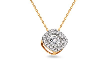 Gold Diamant Anhänger 0,160 ct Dancing Diamonds