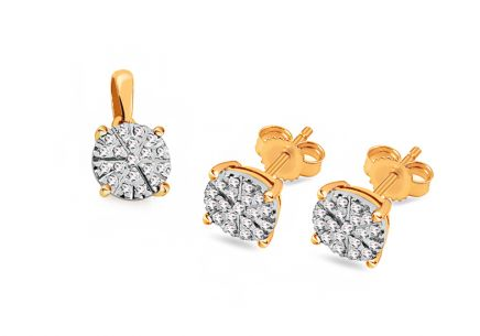 Brillant Goldset 0,300 ct