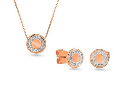 Brillant Set aus Roségold 0,030 ct