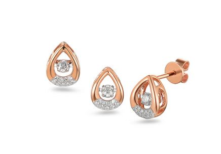 Brillant Set aus Roségold  0,290 ct Dancing Diamonds