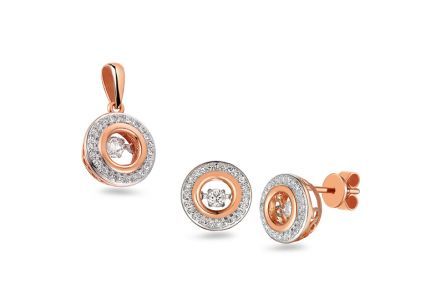 Brillant Set aus Roségold Dancing Diamonds 0,410 ct