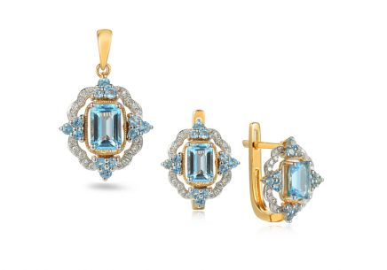 Brillant Set mit Topas aus der Kollektion Lilly Topaz