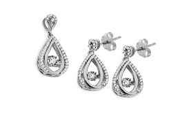 Diamant Set 0,410 ct Dancing Diamonds