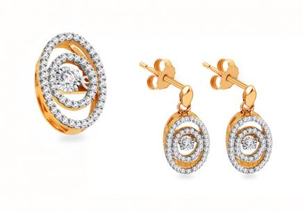 Gold Diamant Set 0,550 ct Dancing Diamonds