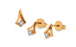 Goldset mit Diamanten 0,030 ct Dannika