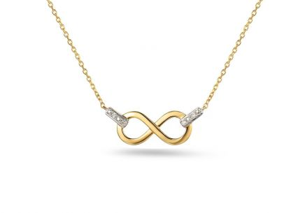 Goldset mit Diamanten 0,030 ct Infinity