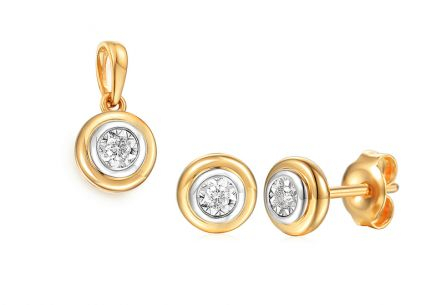 Goldset mit Diamanten 0,070 ct Christabel