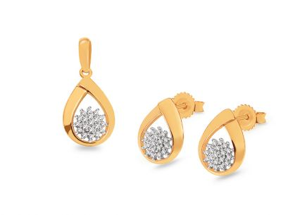 Goldset mit Diamanten 0,160 ct Saryy