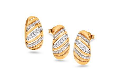 Goldset mit Diamanten 0,180 ct Melusina