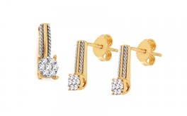 Goldset mit Diamanten 0,270 ct Carlyn