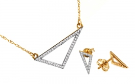 Goldset mit Diamanten Triangles