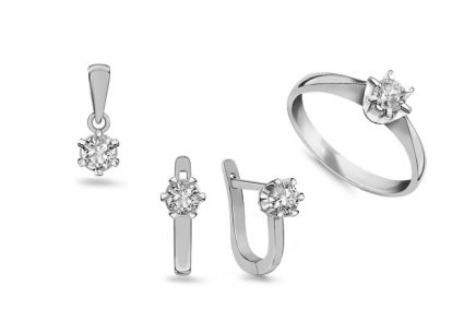 Diamantset Nela white 0,650 ct