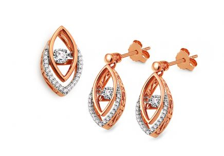 Set aus Roségold mit Diamanten 0,310 ct Dancing Diamonds