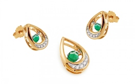 Set mit Brillanten und Smaragden Dancing Emeralds