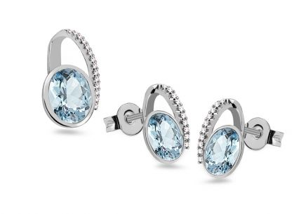 Topas Set mit Diamanten 0,150 ct Danila
