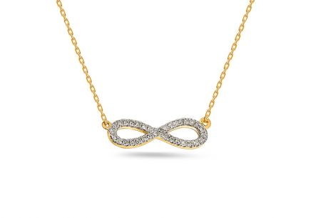 Brillant Gold Halskette 0,080 ct Infinity