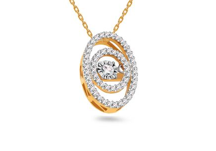 Gold Diamant Anhänger 0,250 ct Dancing Diamonds