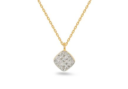Gold Halskette mit Diamanten 0,070 ct