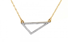 Gold Halskette mit Diamanten Triangle