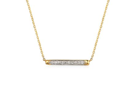 Zarte Brillant Gold Halskette 0,040 ct