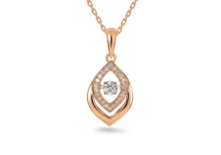 Brillant Anhänger aus Roségold 0,140 ct Dancing Diamonds