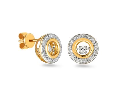 Brillant Ohrringe aus kombiniertem Gold Dancing Diamonds 0,250 ct