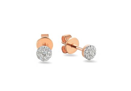 Brillant Ohrringe aus Roségold 0,090 ct