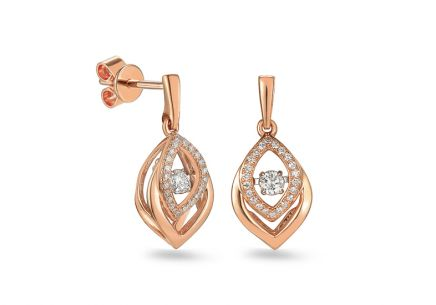 Brillant Ohrringe aus Roségold 0,220 ct Dancing Diamonds