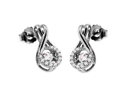 Diamant Ohrringe 0,330 ct Dancing Diamonds