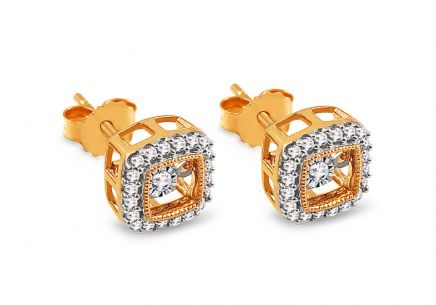 Gold Diamant Ohrringe 0,230 ct Dancing Diamonds