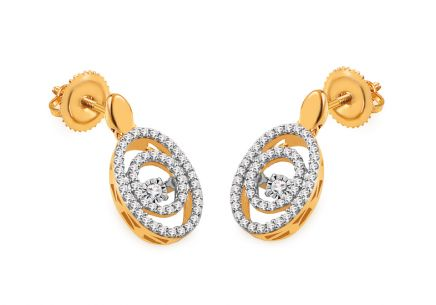 Gold Diamant Ohrringe 0,300 ct Dancing Diamonds