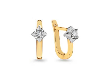 Goldohrringe mit Diamanten 0,180 ct Always
