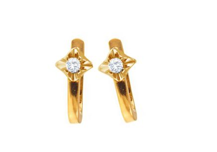 Goldohrringe mit Diamanten 0,180 ct Always yellow
