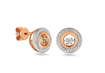 Ohrringe aus Roségold mit Diamanten Dancing Diamonds 0,250 ct