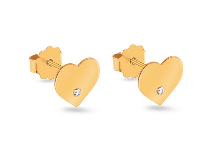 Herzohrringe mit Diamanten aus der Diamond Heart Kollektion