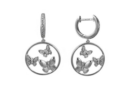 Ohrringe mit Brillanten 0,241 ct Butterfly