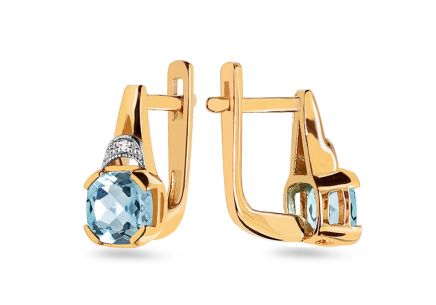 Topaz-Ohrringe mit Diamanten aus der Lilly Topaz 0.010 ct Kollektion