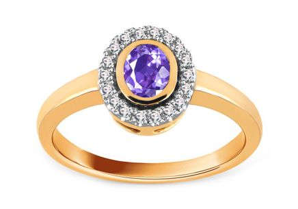 Diamantring Flame of Love 0,090 ct