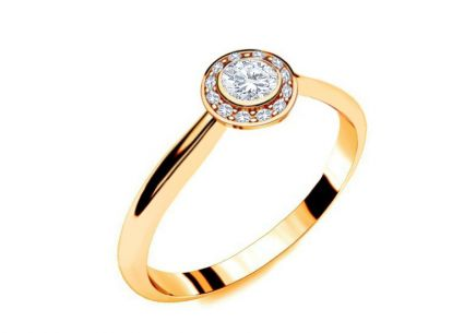 Verlobungsring mit Diamanten 0,210 ct Key To Heart 13 Yellow
