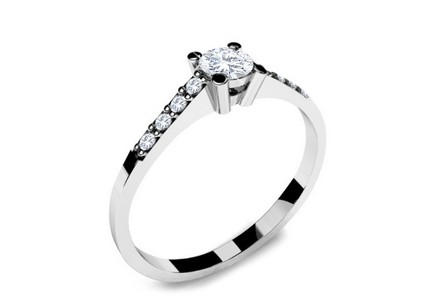 Verlobungsring mit Diamanten 0,220 ct Key To Heart 9